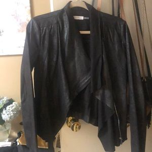 Calvin Klein leather/ suede coat